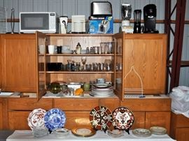 China, glassware, small appliances, kitchen utensils.