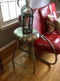 Chrome inspired stool
