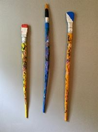 """Original ceramic artwork by Artist, Suzanne Sidebottom. 3 pieces approx. 12""""-30"""" in length."""