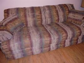 Brown tone couch & love seat