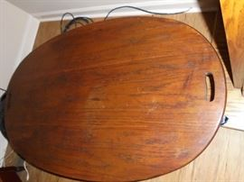Top of oval coffee table