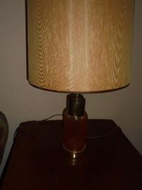 1 of 2 matching amber lamps