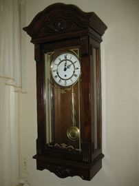 Federal Style Wall Clock with Pendulum