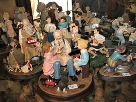 Norman Rockwell, Beatrix Potter, Royal Doulton Bunny Kids and Boyd's Bears Figurines and Art Pieces