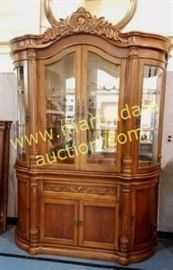 Large 2 piece china cabinet