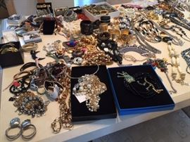Many, many examples of high end costume jewelry