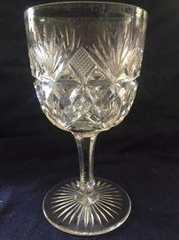 Hawkes cut glass goblets more cut glass