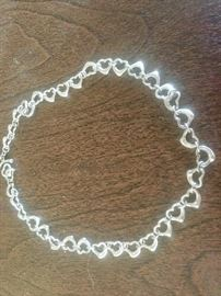 Elsa Perretti Floating Hearts TIFFANY & Co rare necklace. Out of production