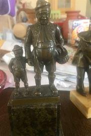 Signed antique bronze