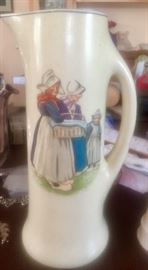 Roseville Dutch large pitcher