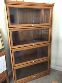 Oak wood bankers bookcases, 2 for sale