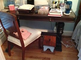 Antique Wood Desk $ 200.00