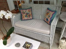 Wicker Loveseat $ 100.00