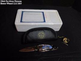 Franklin Mint Harley Davidson Heritage Soft Tail Folding Knife