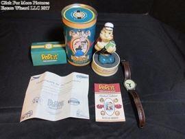 Pop-eye Fossil Watch Limited Edition w/tin & figurine