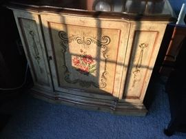 tole painted cabinet