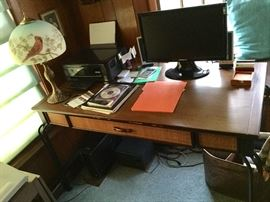 desk, contents of included