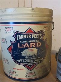 Farmer Peets from Chesening 5lb Lard tin