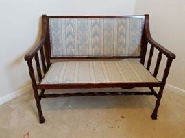 Mid Century Settee with turned spindles