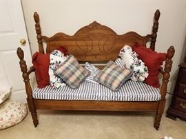 1920's Bed Bench
