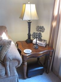 Pair of End Tables and Lamps.