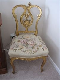 Wonderful Gilded and Needlepoint Chair.