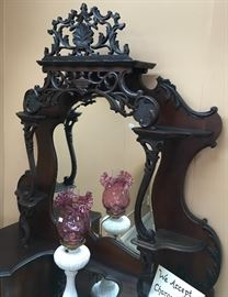 EXCELLENT CARVED DETAIL, A MUST SEE ETAGERE