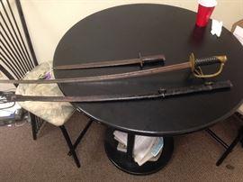 Civil War Sword , WW1 US Bayonet