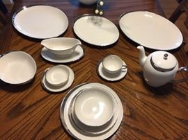 "Pickard China ""Crescent""  service for 24 + serving pieces."