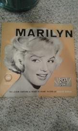 Marilyn Monroe 33rpm Vinyl Record