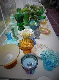 Greenware, Carnival Glass, Milk Glass, Cake Stands and More!