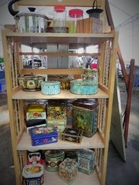 Vintage Collectible Tins and jars