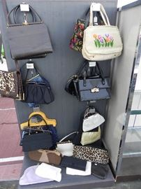 More Vintage purses/handbags ~ Patent Leather, Leather, Suede, Needlepoint, Satin, Beaded ~ More Vintage purses not pictured.