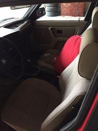Interior of the BMW.