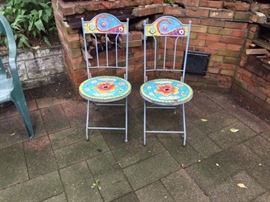 Hand Painted Outdoor Patio Chairs.