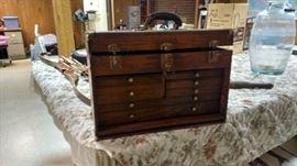 Oak tool chest