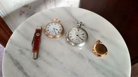 Pocket Watches and Boy Scout knife