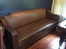Antique leather couch
