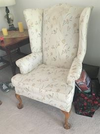 High Back Parlor Chair
