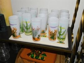 Blakely glasses and place mats