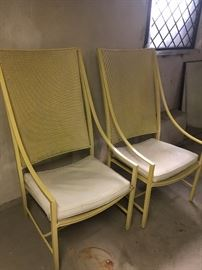 vintage metal patio chairs (pretty large)