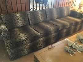 gorgeous vintage 2 pc sofa, newly reupholstered