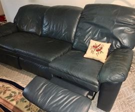 Lane reclining leather sofa in good cosmetic condition, but with mechanical problems