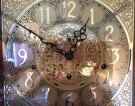 Closeup of Howard Miller clock face
