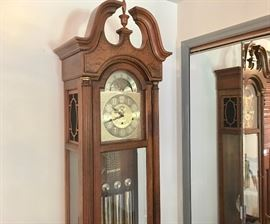 Another view of Howard Miller Anniversary grandfather clock with lovely chimes