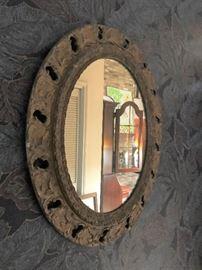 Old gesso mirror