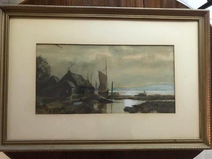 Old watercolor European theme
