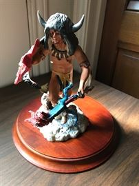 Franklin mint buffalo dancer porcelain figurine