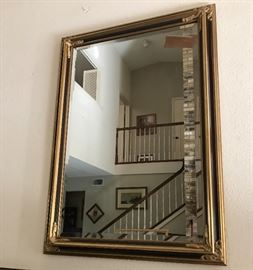 Large ornate beveled mirror