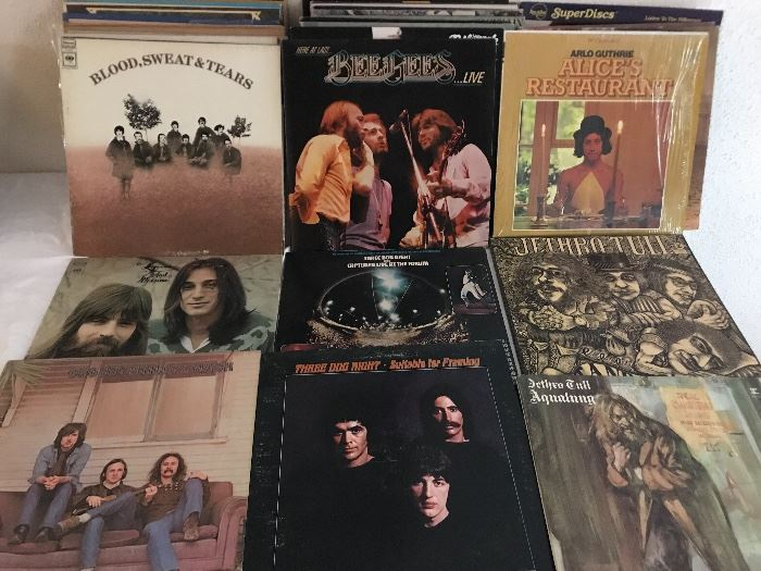 Lots of classic rock LPs